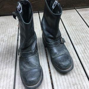 Frye short engineer boots
